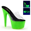 ADORE-701UVG Clear/Neon Green Glitter